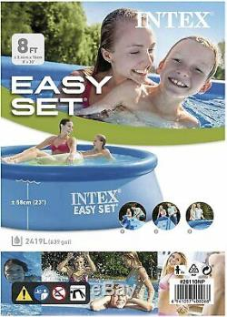 Intex 8ft x 30in Easy Set Inflatable Above Ground Family Swimming Pool