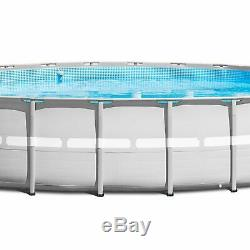 Intex Above Ground Swimming Pool with 2 Inflatable Loungers and Floating Cooler