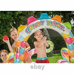 Intex Candy Land Play Center Inflatable Kids Pool With Waterslide 9ft x 6ft x 51in