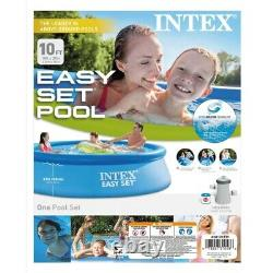 Intex Easy Set 10ft. Round x 30in. Deep Inflatable Pool with 330 GPH Filter Pump
