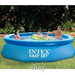Intex Easy Set 10ft x 30in Above Ground Inflatable Round Swimming (Open Box)