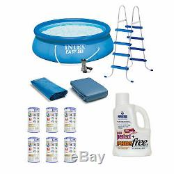 Intex Easy Set 15ft x 4ft Inflatable Above Ground Swimming Pool & Accessories