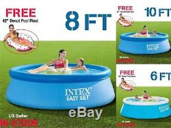Intex Easy Set 6ft x20,8ft x30,10ft x30 Inflatable Swimming Pool FREE FLOAT