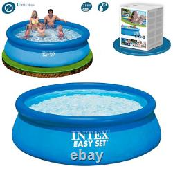Intex Easy Set 8ft x 30in Pool Above Ground Inflatable Swimming Round Family's