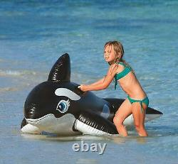 Intex Inflatable Large Whale Ride-on Kids Swimming Pool Toy Beach Holiday Age 3+