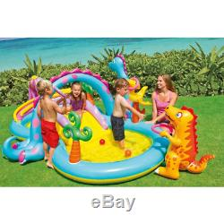 Intex Inflatable Pool Water Swimming Play Center With Slide And Games for Kids