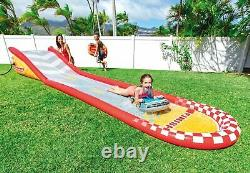 Intex Inflatable Racing Fun Slide with Inflatable Cars