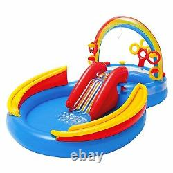 Intex Kids Inflatable Swimming Pool Water Slide Play Center Baby Playground