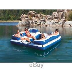 Intex Oasis Island Inflatable Seated Floating Lounge Raft Swimming Pool Toys