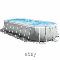 Intex Prism Pool Set with Inflatable Loungers (2 Pack) and Inflatable Cooler