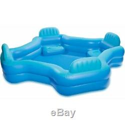 Intex Relax 2-Seat Cool Swim Center Family Lounge Inflatable Pool
