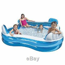 Intex Swim Center Family Lounge Inflatable Pool, 90 X 90 X 26 Ages 3+
