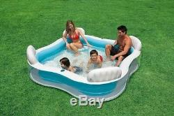 Intex Swim Center Family Lounge Inflatable Pool, 90 X 90 X 26, for Ages 3+