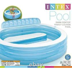 Intex Swim Center Inflatable Family Lounge Pool, 88in X 85in X 30in, Ages 3+ New