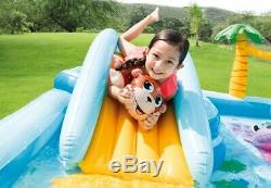 Jungle Adventure Inflatable Play Center Kiddie Spray Wading Kids Swimming Pool