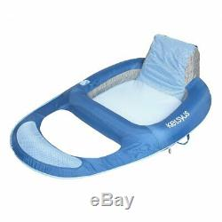 Kelsyus Floating Pool Lounger Inflatable Chair with Cup Holder, Blue (4 Pack)