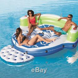 Kick Back Lounge Inflatable Floating Island For Rivers, Lakes, Beach, Pool Float