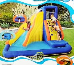 Kids Huge Inflatable Water Slide Climbing Wall Splash Pool Family Swimming Play