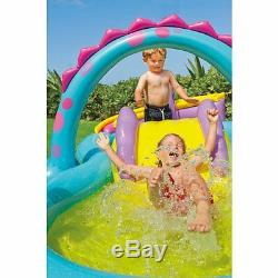 Kids Inflatable Pool Baby Kiddie Blow Up Above Ground Water Slide Play Center