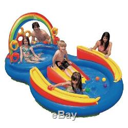 Kids Inflatable Swimming Pool Ring Toddlers Outdoor Water Play Center Playground