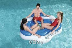 Large 3 Person Tube For Lake Pool Inflatable River Raft Fun Adult Kid Floaties