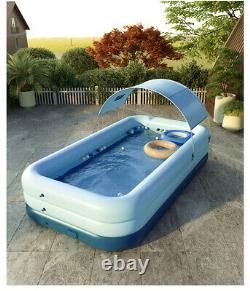 Large Family Wireless Inflatable Swimming Pools Above Ground Home Kids Outdoor