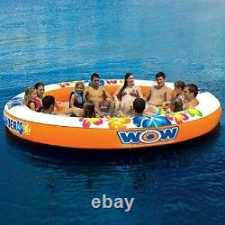 Large Inflatable Float Island Lounge 12 Person Water Sport Lake Ocean Party Pool