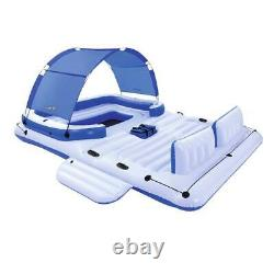 Large Inflatable Floating Raft Lounge Island Pool Lake 6 Person With Cooler NEW