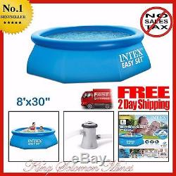 Large Inflatable Swimming Pool Family Kids Fun Above Ground Backyard Filter Pump