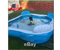 Large Inflatable Swimming Pool Lounge Sturdy for Kids Kiddie Adult Family Play