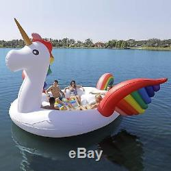 Large Party Bird Inflatable Pool Sea Float Unicorn Pump Carrying Bag 6 People