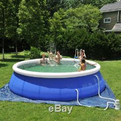 Lenakrui 15ft x 36in Quick Set Inflatable Above Ground Swimming Pool with Filter