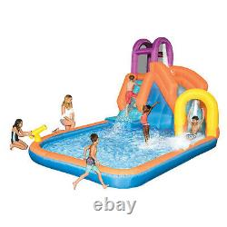 Magic Time Mega Tornado Twist Outdoor Inflatable Kids Water Park with Slide