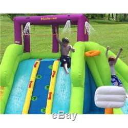 Magic Time Triple Blast Kids Outdoor Inflatable Water Slide Open Box