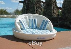 NEW 3 Person Inflatable Float Lounge Sofa Couch Lounger Raft Swimming Chair Pool