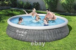 NEW BESTWAY 13' x 33 FAST SET EASY INFLATABLE POOL WITH FULTER PUMP & FILTER