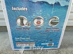 NEW BESTWAY 15' x 42 FAST SET EASY INFLATABLE POOL With LADDER COVER PUMP FILTER