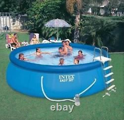 NEW IN HAND Intex 15' x 48 Inflatable Easy Set Swimming Pool with Ladder & Pump