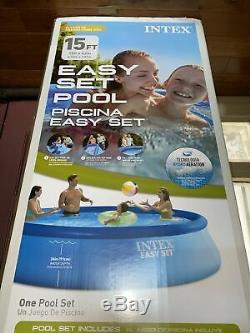 NEW Intex 15ft x 42in Easy Set Inflatable Above Ground Swimming Pool 15'x42