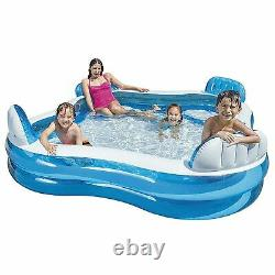 NEW Intex Swim Center Family Lounge Inflatable Pool, 90 X 90 X 26 Ages 3+