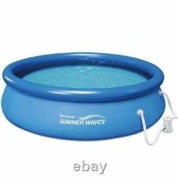 NEW Summer Waves 10 ft X 30 in Quick Set Inflatable Pool With Filter Pump