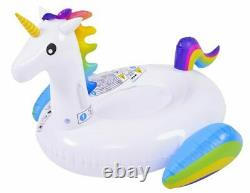 New Giant Rideable Unicorn Inflatable Swim Ring Swimming Pool Water Float Toy