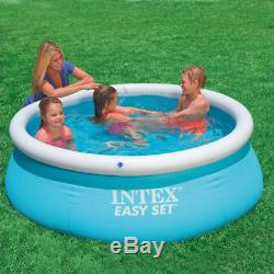 New Intex Easy Set family inflatable pool above ground swimming + air pump GIFT