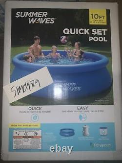 New Summer Waves 10ft x 30in Inflatable Quick Set Pool Pump Filter FREE SHIPPING