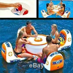 Outdoor Inflatable And Towable Island Table Water Swimming Pool River Float