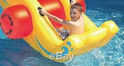 Outdoor Swimming Pool Fun Water Game Sea Saw Rocker Inflatable Float Kids Toy