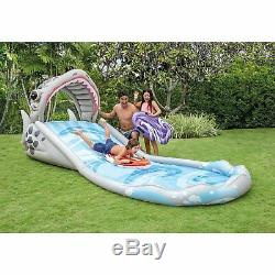 Outdoor Water Slide Inflatable Pool Toys Shark Design Pool Float Tubes Kids Pool