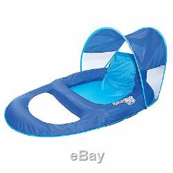 Pool Chair Canopy Float Inflatable Lounge Raft Swimming Recliner Water Floating