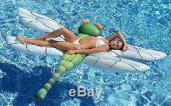 Pool Float For Kids Adult Raft Inflatable Lounge Light-Up LED Eyes Swimming Toys