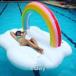 Pool Float Giant Inflatable Adult Tube Raft Kid Swimming Ring Summer Water Toy